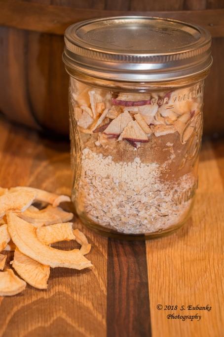 Apple Pie Oatmeal Jars Copyrighted 1300 pixels